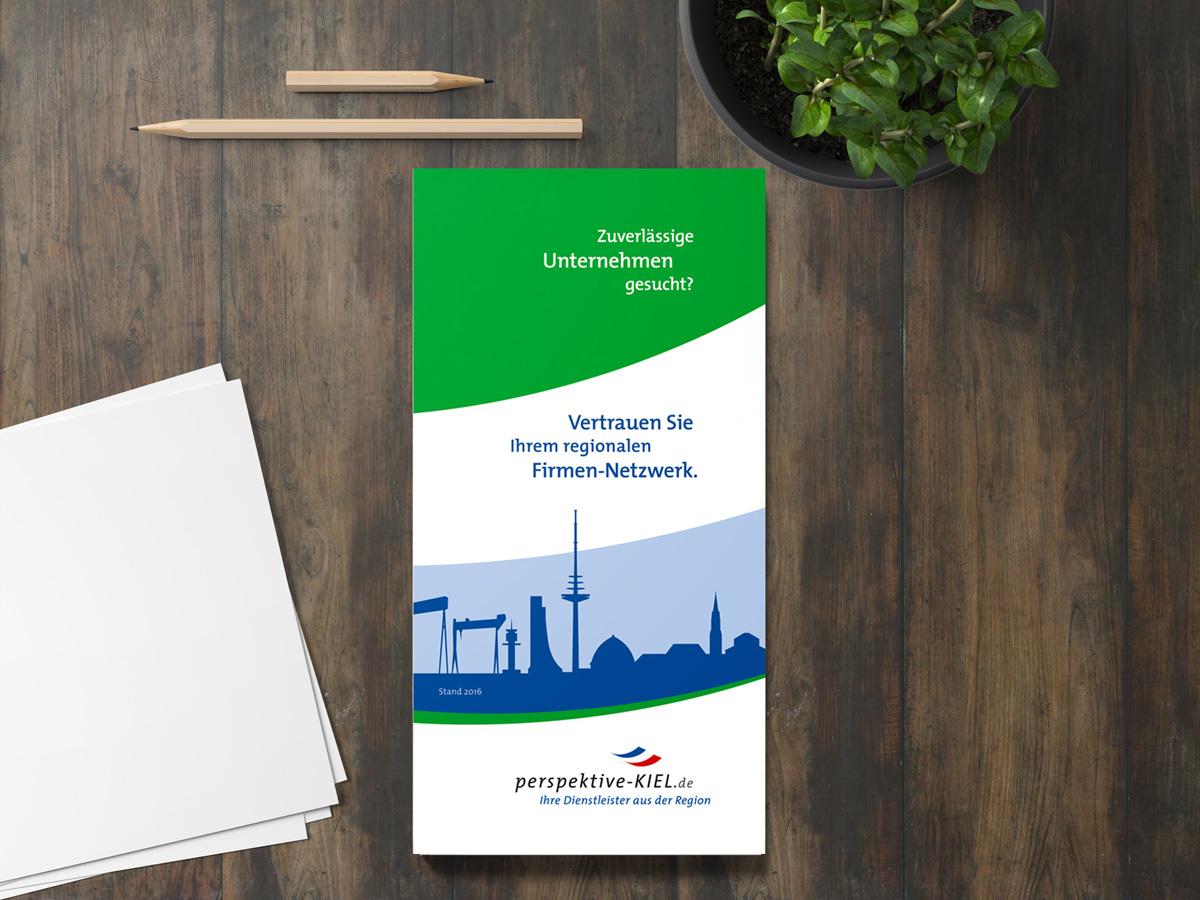 Broschüren der Perspektive Kiel. Eine Referenz von MecklenburgDruck
